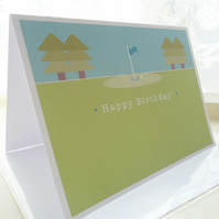 Personalised Golf Birthday Card