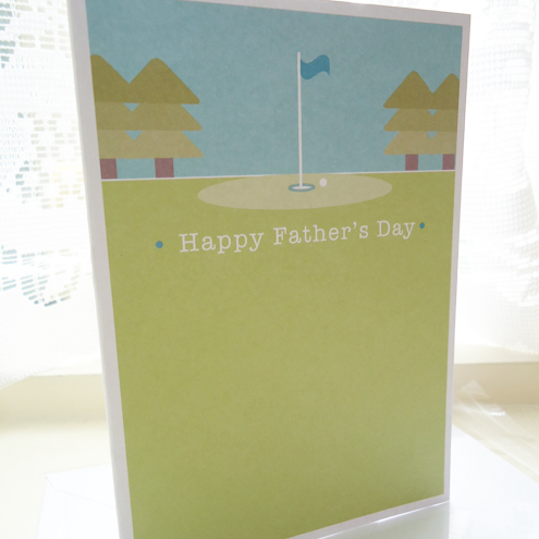 Golf Father's Day Card