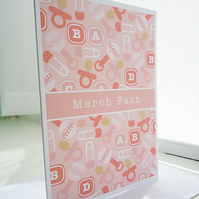Merch Fach Baby Girl Welsh Card
