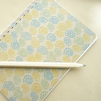 Handmade Mini A6 Notebook - Shell Swirls