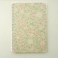 Handmade Mini A6 Notebook - Nan's Garden