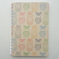 Handmade Mini A6 Notebook - Hoot Hoot