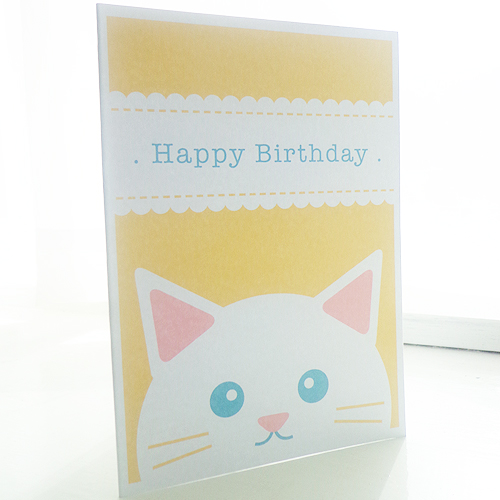 Personalised Cat Children's Birthday Card