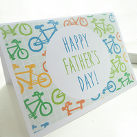Bicycle Pattern Father's Day Card