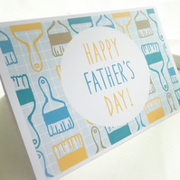 D.I.Y. Paintbrush Pattern Father's Day Card