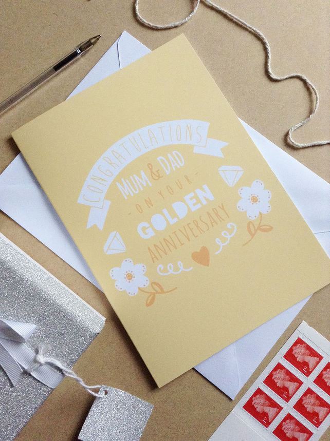 Golden Wedding Anniversary Card