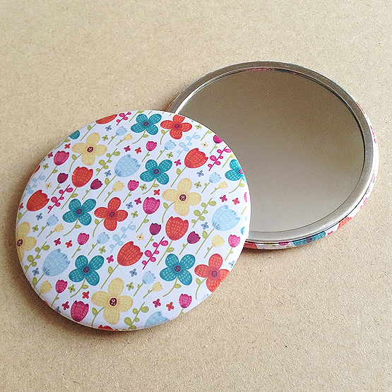 Floral Burst 76mm Pocket Mirror