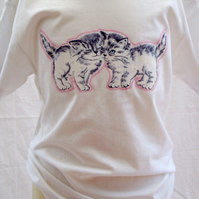 """Boden Kitten"" girls applique tee shirt - 5-6yrs"