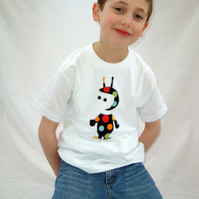 """Mummy's little Martian"" applique boys t-shirt"