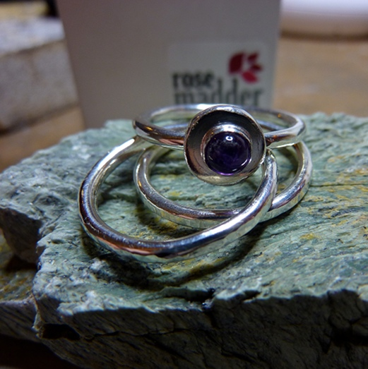 921f86bd6785c Hammered Silver stacking rings