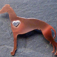 Galgo or greyhound brooch