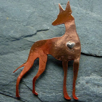 Podenco brooch