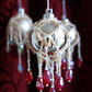 4 x OOAK Crystal and Glass Baubles