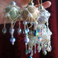 4 x Pastel and Pearl Crystal Victoriana Baubles