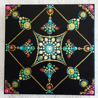 Mandala Dot  Art Spiritual Reiki Acrylic on Canvas