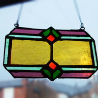 Victorian Style Stained Glass Suncatcher