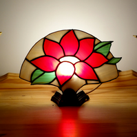 Stained Glass Fan Lamp