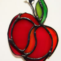 Juicy Red Apple Suncatcher Window Christmas Decoration