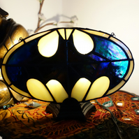 Stained Glass Batman Fan Lamp