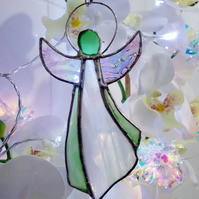 Stained Glass Angel  Suncatcher Ornament Gift Window Decoration