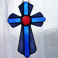 Stained Glass Cross Crucifix