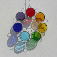 Rainbow Stained Glass Suncatcher