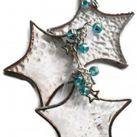 Stained Glass Star Christmas Decoration, Star Christmas Tree Decoration