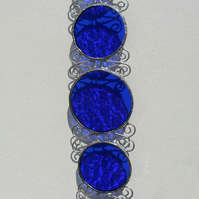 Stained Glass September Birthday Suncatcher, Sapphire Blue, September Birthstone