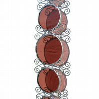 October Birthday Stained Glass Suncatcher - October Birthstone, Rose Zircon