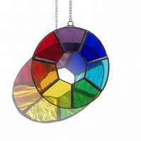 Stained Glass Chakra Suncatcher, Chakra Suncatcher