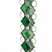 May Emerald Stained Glass Suncatcher, Emerald Green Suncatcher