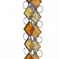 November Topaz Stained Glass Suncatcher, Topaz  Stained Glass Suncatcher