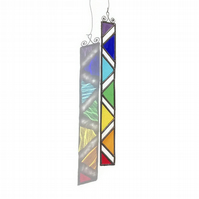Abstract Stained Glass Chakra Suncatcher, Chakra Suncatcher