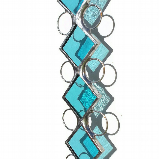 November Birthday, Blue Topaz Stained Glass Suncatcher, Blue Topaz Birthstone