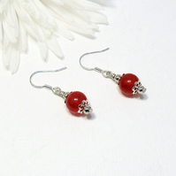 Red Carnelian Earrings