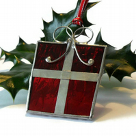 Red Gift Christmas Tree Decoration, Christmas Tree Ornament