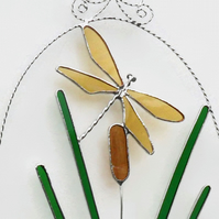 Dragonfly Suncatcher, Stained Glass Dragonfly