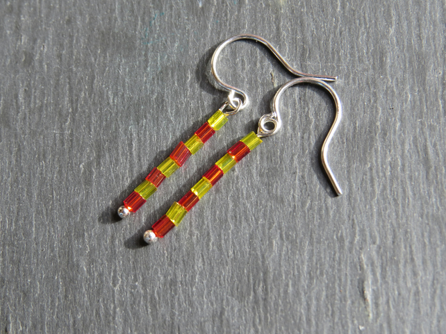 tiny bead hook earrings