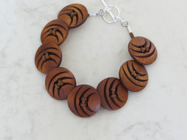 wooden button bracelet
