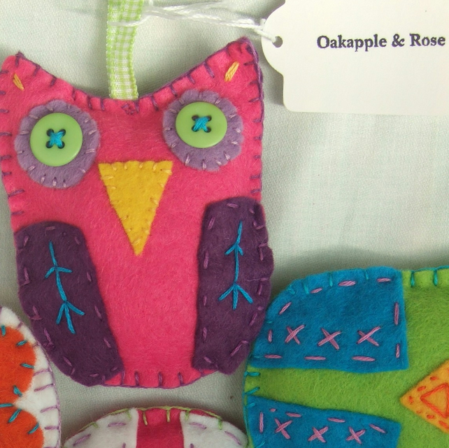 Felt Hanging Owl Decorations