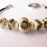 Eye of the Storm Lampwork Bracelet