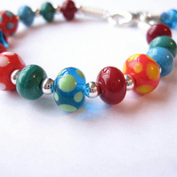 Going Dotty Lampwork Bracelet