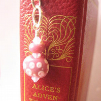 Polka Dot Bookmark Pink