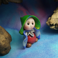 "Tiny Gnome Maiden 'Ferne' 1.5"" OOAK Sculpt by Ann Galvin"