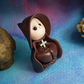 "Tiny Gnome Monk 'Brother Osric' 1.5"" OOAK Sculpt by Ann Galvin Gnome Village"