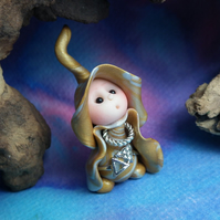 Princess 'Mina' Tiny Royal Gnome with Precious Jewels OOAK Sculpt by Ann Galvin
