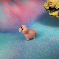 "1 x Tiny Piglet Pig just .5"" OOAK Sculpt by Ann Galvin Gnome Village"