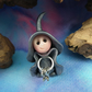 "Tiny Keykeeper Gnome 'Inglis' with Vault Keys 1.5"" OOAK Sculpt by Ann Galvin"