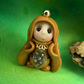 Princess 'Gildren' Tiny Royal Gnome with Crown Jewels OOAK Sculpt by Ann Galvin