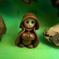 "Tiny Gnome Monk 'Brother Herne' 1.5"" OOAK Sculpt by Ann Galvin Gnome Village"
